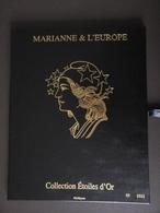 France, Carnet N° 4020, 4662A/4662Q, F4662A, Coffret Marianne Et L'Europe, 15 Blocs Neuf **, Marianne Etoiles D'or - Bloc De Notas & Hojas