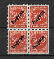 LOTE 1621  ///  ALEMANIA IMPERIO   YVERT Nº: SERVICE 54  EN BLOQUE DE 4 **MNH - Oficial