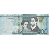 TWN - DOMINICAN REP. NEW - 500 Pesos Dominicanos 2017  70th Ann. Of Banco Central - Prefix AA UNC - Dominicana
