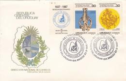 FDC-SESQUICENTENARIO DEL MUSEO NACIONAL DE HISTORIA NATURAL MONTEVIDEO.-URUGUAY-TBE-BLEUP - Uruguay