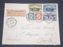 FRANCE - Enveloppe En Recommandé De Avaray Pour La Roumanie En 1925 , Affranchissement Plaisant - L 13279 - Marcophilie (Lettres)