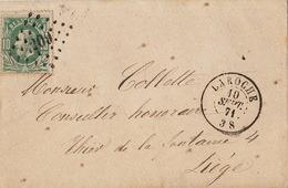 10 Centimes Liège Laroche Laroche - 1865-1866 Perfil Izquierdo