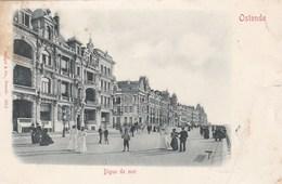 OOSTENDE - FLANDRE OCCIDENTALE - BELGIQUE - CPA PRÉCURSEUR 1901 - BEL AFFRANCHISSEMENT POSTAL. - Oostende