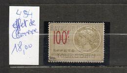 DT124B FRANCE 1 TIMBRES OBL  FISCAL FISCAUX REVENUE REVENUES EFFET COMMERCE N°484 - Revenue Stamps