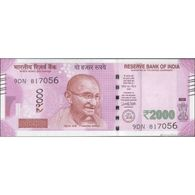 TWN - INDIA NEW - 2000 2.000 Rupees 2016 Prefix 9DN - Plate Letter R UNC - India