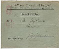 ALEMANIA REICH 1922 CHEMNITZ CC FRANQUEO MECANICO METER - Covers & Documents