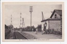 CPA 79 TERVES La Halte Du Chemin De Fer - France