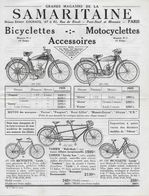 """Catalogue GRANDS MAGASINS DE LA SAMARITAINE - PARIS """"Bicyclettes - Motocyclettes - Accessoires"""" Edition 20/5/1937 - France"""