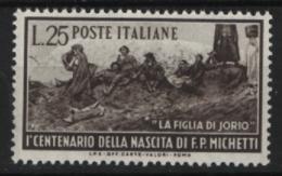 Italia Repubblica 1951 Michetti (Sass.671) **/MNH - 1946-.. République