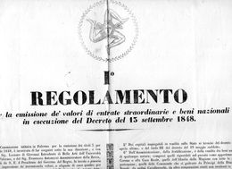 1848 DECRETO PALERMO - Decreti & Leggi