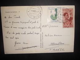 Riu Muni Carte De 1967 Pour Verneuil - Riu Muni