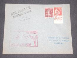 FRANCE - Enveloppe Par Avion De L 'Aéroport De Bron Pour Paris En 1938 - L 13282 - Marcophilie (Lettres)