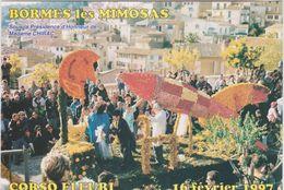 Var :  BORMES  Les   MIMOSAS :  Corso  Fleuri  1997 (  Fusée-avion) - Bormes-les-Mimosas