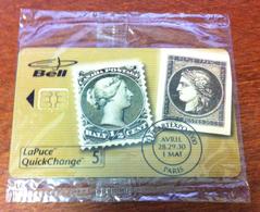 CARTE TÉLÉPHONIQUE LAPUCE BELL CANADA PARIS TIMBRES POSTE PHONECARD NEUVE CARD 5$ POUR COLLECTION - Timbres & Monnaies