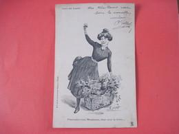 """CPA  75 CRIS DE PARIS """"Fleurissez-vous, Mesdames, Deux Sous La Botte...""""  Début 1900  T.B.E. - Non Classés"""