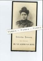 PHILOMENA VAN DUFFEL  ECHTG JOZEF VAN ALSENOY ° HECHTEL ( HECHTEL-EKSEL ) 1878 + ANTWERPEN 1911 - Imágenes Religiosas