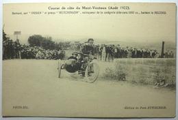 """COURSE DE CÔTE DU MONT VENTOUX ( AOÛT 1922 ) - BERNARD SUR """"INDIAN"""" ET PNEUS 'HUTCHINSON"""" VAINQUEUR DE LA CATÉGORIE SIDE - Sport Moto"""