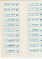 FEUILLE DE 20 VIGNETTES CODE POSTAL - Commemorative Labels
