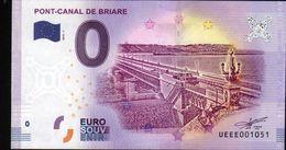 France - Billet Touristique 0 Euro 2018 N°1051 (UEEE001051/5000) - PONT-CANAL DE BRIARE - EURO