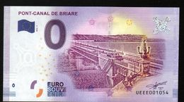France - Billet Touristique 0 Euro 2018 N°1054 (UEEE001054/5000) - PONT-CANAL DE BRIARE - EURO
