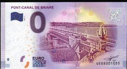 France - Billet Touristique 0 Euro 2018 N°1055 (UEEE001055/5000) - PONT-CANAL DE BRIARE - EURO