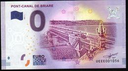 France - Billet Touristique 0 Euro 2018 N°1056 (UEEE001056/5000) - PONT-CANAL DE BRIARE - EURO