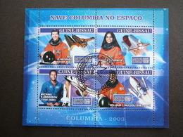 Columbia. Space. Raumfahrt. Espace # Guinea-Bissau # 2007 Used S/s # - Space