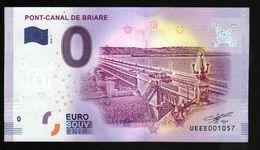 France - Billet Touristique 0 Euro 2018 N°1057 (UEEE001057/5000) - PONT-CANAL DE BRIARE - EURO