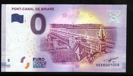 France - Billet Touristique 0 Euro 2018 N°1058 (UEEE001058/5000) - PONT-CANAL DE BRIARE - EURO