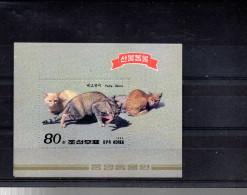 COREE DU NORD BLOC 56** SUR DES CHATS - Corée Du Nord
