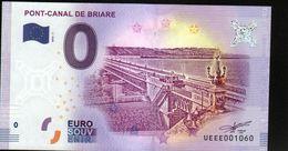France - Billet Touristique 0 Euro 2018 N°1060 (UEEE001060/5000) - PONT-CANAL DE BRIARE - EURO