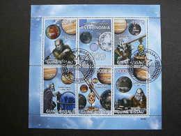 Galileo Galilei. Space. Raumfahrt. Espace # Guinea-Bissau # 2009 Used S/s # Astronomia - Space