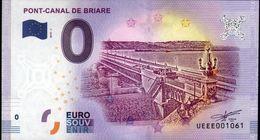 France - Billet Touristique 0 Euro 2018 N°1061 (UEEE001061/5000) - PONT-CANAL DE BRIARE - EURO