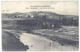 Cpa Langogne - Les Bords De L'Allier - Langogne