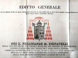 1841  PALERMO - Decreti & Leggi