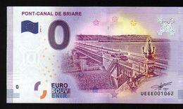 France - Billet Touristique 0 Euro 2018 N°1062 (UEEE001062/5000) - PONT-CANAL DE BRIARE - EURO