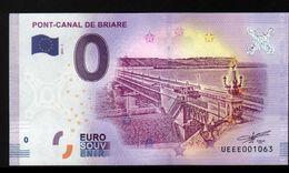 France - Billet Touristique 0 Euro 2018 N°1063 (UEEE001063/5000) - PONT-CANAL DE BRIARE - EURO