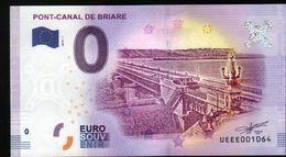 France - Billet Touristique 0 Euro 2018 N°1064 (UEEE001064/5000) - PONT-CANAL DE BRIARE - EURO