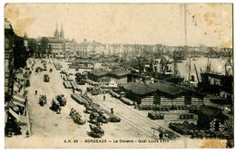 CPA 33 Gironde Bordeaux La Douane Quai Louis XVIII Animé - Bordeaux
