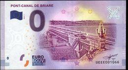 France - Billet Touristique 0 Euro 2018 N°1066 (UEEE001066/5000) - PONT-CANAL DE BRIARE - EURO