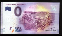 France - Billet Touristique 0 Euro 2018 N°1068 (UEEE001068/5000) - PONT-CANAL DE BRIARE - EURO
