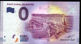 France - Billet Touristique 0 Euro 2018 N°1069 (UEEE001069/5000) - PONT-CANAL DE BRIARE - EURO