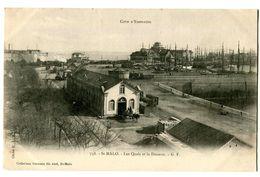 CPA 35 Ille Et Vilaine Saint-Malo Les Quais Et La Douane Animé - Saint Malo
