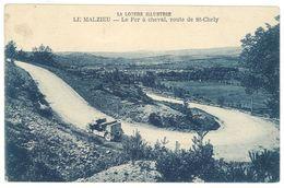 Cpa Le Malzieu - Le Fer à Cheval, Route De St-Chély - France