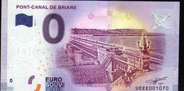 France - Billet Touristique 0 Euro 2018 N°1070 (UEEE001070/5000) - PONT-CANAL DE BRIARE - EURO
