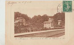 Cpa ( 91 Essonne ) Montgeron , Panorama De La Rue Du Chemin De Fer   1911 - Montgeron