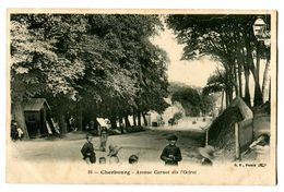 CPA 50 Manche Cherbourg Avenue Carnot Dès L'Octroi Animé - Cherbourg