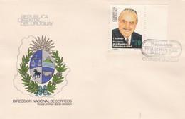 FDC-VISITA PRESIDENTE BRASIL DR JOSE SARNEY-URUGUAY-TBE-BLEUP - Uruguay