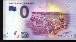 France - Billet Touristique 0 Euro 2018 N°1071 (UEEE001071/5000) - PONT-CANAL DE BRIARE - EURO