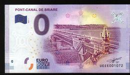 France - Billet Touristique 0 Euro 2018 N°1072 (UEEE001072/5000) - PONT-CANAL DE BRIARE - EURO
